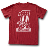 Evel Knievel Red One Cardinal Adult T-Shirt