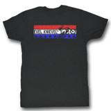 Evel Knievel Americana Black Heather Adult T-Shirt