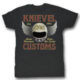 Evel Knievel Knievel Customs Black Heather Adult T-Shirt