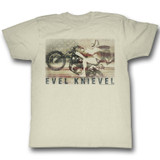 Evel Knievel Ameriknievel Natural Adult T-Shirt