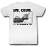 Evel Knievel 1967 White Adult T-Shirt