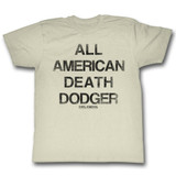 Evel Knievel Dodger Natural Adult T-Shirt