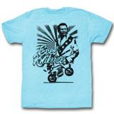 Evel Knievel Evel Line Light Blue Heather Adult T-Shirt