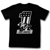 Evel Knievel Red One Black Adult T-Shirt