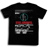 Evel Knievel Red White Blue Black Adult T-Shirt