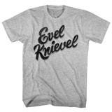 Evel Knievel Evel Gray Heather Adult T-Shirt