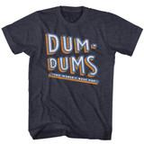 Dum Dums Stacked Dum Navy Heather Adult T-Shirt