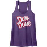 Dum Dums Purple Heather Junior Women's Racerback Tank Top