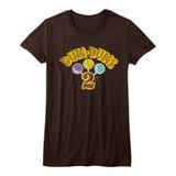 Dum Dums Dumdum2C Brown Junior Women's T-Shirt