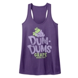 Dum Dums Grape Purple Heather Junior Women's Racerback Tank Top