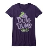 Dum Dums Grape Purple Heather Junior Women's T-Shirt