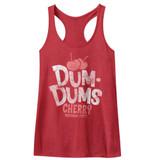 Dum Dums Cherry Red Heather Junior Women's Racerback Tank Top