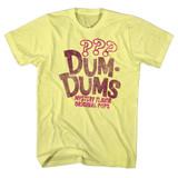 Dum Dums Mystery Yellow Heather Adult T-Shirt