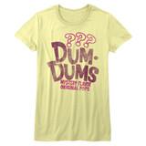 Dum Dums Mystery Yellow Heather Junior Women's T-Shirt
