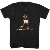 Muhammad Ali All Over Again Black Adult T-Shirt