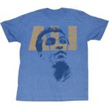 Muhammad Ali Ali Look Light Blue Heather Adult T-Shirt
