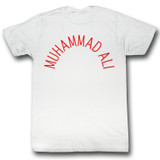 Muhammad Ali Arch Text White Adult T-Shirt