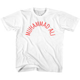 Muhammad Ali Arch Text White Youth T-Shirt