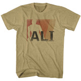 Muhammad Ali Ali Khaki Heather Adult T-Shirt