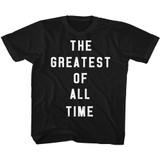 Muhammad Ali GOAT Black Youth T-Shirt