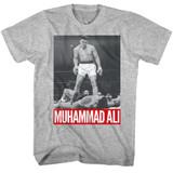 Muhammad Ali Gray Heather Adult T-Shirt