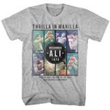 Muhammad Ali Collage Gray Heather Adult T-Shirt