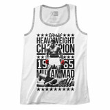 Muhammad Ali Six Four Champ White/Gray Heather Adult Tank Top T-Shirt