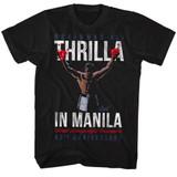 Muhammad Ali Champ No Type Black Adult T-Shirt