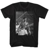 Muhammad Ali Look Ahead Black Adult T-Shirt