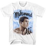 Muhammad Ali Airbrush White Adult T-Shirt