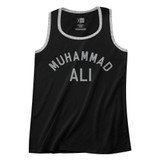 Muhammad Ali Black/Gray Heather Adult Tank Top T-Shirt