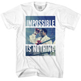 Muhammad Ali Impossible Is Nothing White Adult T-Shirt