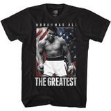 Muhammad Ali Americali Black Adult T-Shirt
