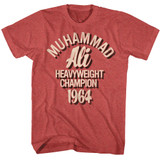 Muhammad Ali Red Heather Adult T-Shirt