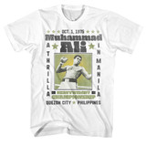 Muhammad Ali A Thrilla White Adult T-Shirt