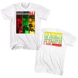 Muhammad Ali The Champion White Adult T-Shirt
