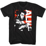Muhammad Ali Getting Ready Black Adult T-Shirt