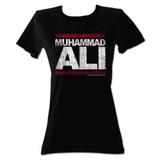 Muhammad Ali Run Ali Black Junior Women's T-Shirt