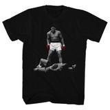 Muhammad Ali Red Gloves Black Adult T-Shirt