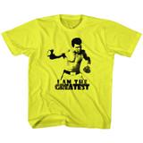 Muhammad Ali I Am The Greatest Yellow Children's T-Shirt