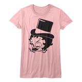 Betty Boop Dapper Boop Light Pink Junior Women's T-Shirt