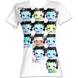 Betty Boop Warhol-Esque White Junior Women's T-Shirt