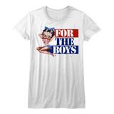 Betty Boop For The Boys White Junior Women's T-Shirt