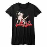 Betty Boop Four On The Floor Black Junior Women's T-Shirt