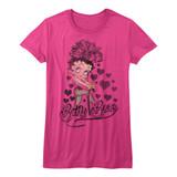 Betty Boop Chillin' Red Junior Women's T-Shirt