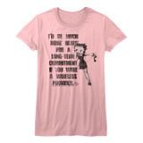 Betty Boop Long Term Commitment Pink Junior Women's T-Shirt