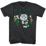 Beetle Bailey Beetle Brawl Black Heather Adult T-Shirt