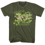 Beetle Bailey Camo Case Military Green Adult T-Shirt