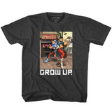 Street Fighter Grow Up Black Heather Youth T-Shirt