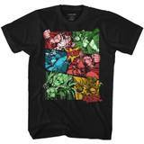 Street Fighter Comic Black Adult T-Shirt